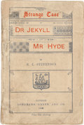 Books:Literature Pre-1900, Robert Louis Stevenson. Strange Case of Dr Jekyll and MrHyde. London: Longmans, Green, and Co., 1886. First Englis...