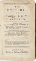 Books:Science & Technology, Nicholas de Venette (1633-1698). The Mysteries of Conjugal LoveReveal'd. London, 1712. Third edition in English...