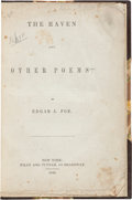Books:Literature Pre-1900, Edgar Allan Poe. The Raven and Other Poems. New York: Wiley and Putnam, 1845. First edition. ...