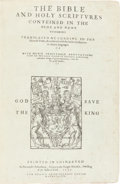Books:Religion & Theology, [Bible in English]. The Bible and Holy Scriptvres conteined inthe Olde and Newe Testament Translated according to the E...