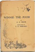 Books:Children's Books, A. A. Milne. Winnie-the-Pooh. Decorations by Ernest H.Shepard. London: [1926]. First edition....