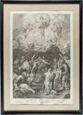 Books:Prints & Leaves, [Nicholas Dorigny, Engraver]. Two Large Framed Engravings byDorigny, Including: the Ascension of Christ Into Heaven afterRap... (Total: 2 Items)