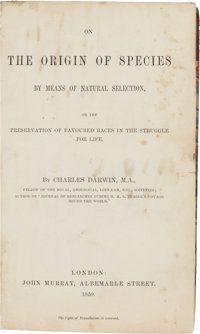 Charles Darwin. On the Origin of Species by Means of Natural Selection, or the Preservation of the Favoured Rac