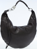 Luxury Accessories:Bags, Gucci Black Leather Hobo Bag with Silver Hardware. ...