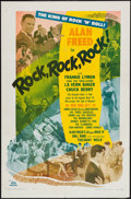 "Movie Posters:Rock and Roll, Rock, Rock, Rock (DCA, 1956). One Sheet (27"" X 41""). Rock and Roll.. ..."