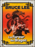 """Movie Posters:Action, The Way of the Dragon (Cathay Films, 1974). French Affiche (23.5"""" X 31.5""""). Action.. ..."""