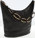 Luxury Accessories:Bags, Gucci Black Leather Hobo Bag with Gold Chain Shoulder Strap. ...