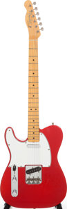 Musical Instruments:Electric Guitars, 1965 Fender Telecaster Custom Left-Handed Candy Apple Red Solid Body Electric Guitar, Serial # 104230. ...