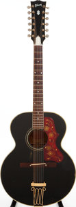 Musical Instruments:Acoustic Guitars, David Guard's 1960 Gibson J-200 Custom Black 12-String Acoustic Guitar, Serial # A34487. ...