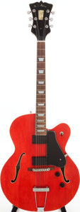 Musical Instruments:Electric Guitars, 1996 R.C. Allen Leader Red Semi-Hollow Body Electric Guitar, Serial# 1015-96T....