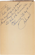 "Books:Fiction, Mae West. ""Diamond Lil"". NY: [1949]. First Sheridan Houseedition. Inscribed by West to her co-star.... (Total: 2 Items)"