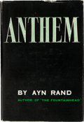 Books:Business & Economics, Ayn Rand. Anthem. Caldwell: 1964. Fifth printing. Inscribedand signed by Rand....