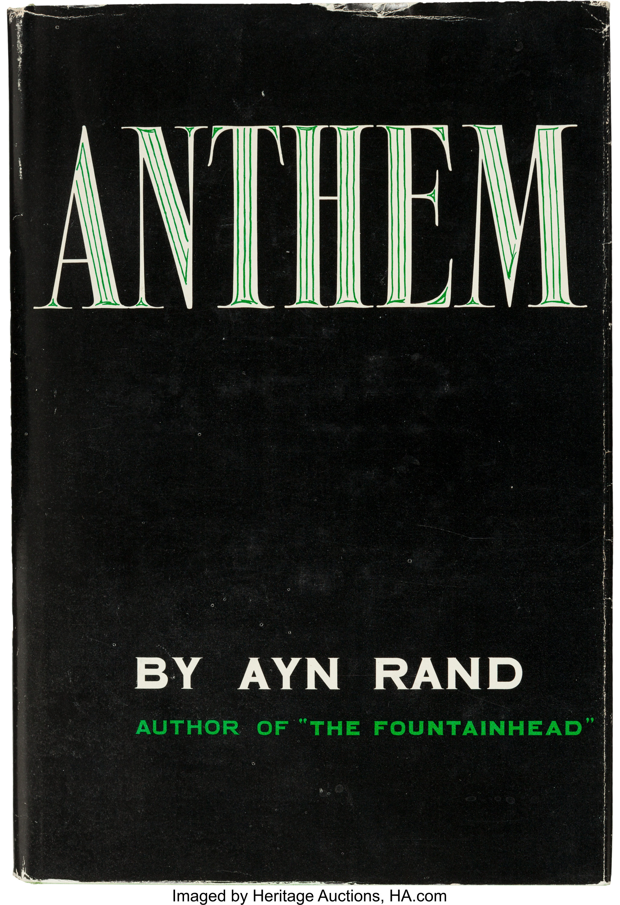 Ayn Rand Anthem Caldwell 1964 Fifth Printing Inscribed And