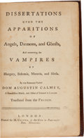 Books:Metaphysical & Occult, [Vampires]. Dom Augustin Calmet. Dissertations Upon theApparitions of Angels, Daemons, and Ghosts, and Concerning theV...