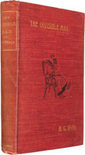 Books:Science Fiction & Fantasy, H. G. Wells. The Invisible Man. London: 1897. First edition. With an original drawing of the Invisible Man by Well...