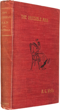 H. G. Wells. The Invisible Man. London: 1897. First edition. With an original drawing of the