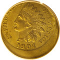 1904 1C Indian Cent--Struck 20% Off Center--MS60 Brown PCGS. While not the rarest error in the Henderson Collection, thi...