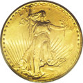 Errors: , 1924 $20 Double Eagle--Struck Through Obverse--MS64 PCGS. A lustrous lime-gold double eagle is well preserved for the MS64 ...