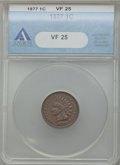 Indian Cents, 1877 1C VF25 ANACS....