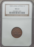 Flying Eagle Cents, 1858 1C Large Letters MS63 NGC....