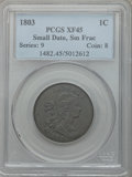 Large Cents, 1803 1C Small Date, Small Fraction XF45 PCGS. S-246, B-4, R.3....