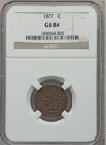 Indian Cents: , 1877 1C Good 6 NGC. NGC Census: (199/1490). PCGS Population(397/2424). Mintage: 852,500. Numismedia Wsl. Price for problem...