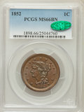 Large Cents, 1852 1C MS66 Brown PCGS. CAC. N-5, R.2....