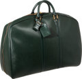 Luxury Accessories:Travel/Trunks, Louis Vuitton Hunter Green Taiga Leather Helanga Travel Bag. ...
