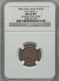 Civil War Patriotics, 1864 Union For Ever MS62 Brown NGC. Fuld-51/342Aa....