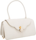 Luxury Accessories:Bags, Judith Leiber White Lizard Mini Flap Bag. ...