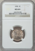 Liberty Nickels: , 1898 5C MS64+ NGC. NGC Census: (140/103). PCGS Population(190/110). Mintage: 12,532,087. Numismedia Wsl. Price forproblem...