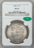 Morgan Dollars: , 1888-O $1 MS65 NGC. CAC. NGC Census: (1328/41). PCGS Population(1744/211). Mintage: 12,150,000. Numismedia Wsl. Price for ...
