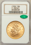 Liberty Double Eagles, 1899 $20 MS64 NGC. CAC....