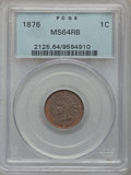 Indian Cents: , 1876 1C MS64 Red and Brown PCGS. PCGS Population (213/69). NGCCensus: (129/109). Mintage: 7,944,000. Numismedia Wsl. Price...