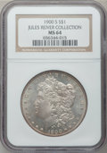 Morgan Dollars: , 1900-S $1 MS64 NGC. Ex: Jules Reiver Collection. NGC Census:(882/215). PCGS Population (1569/600). Mintage: 3,540,000. Num...