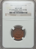 Civil War Merchants, 1863 P. Lochary, New Store, Morristown, OH, MS63 Red and Brown NGC.Fuld-OH565A-2a....