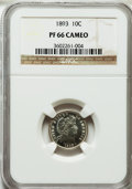 Proof Barber Dimes, 1893 10C PR66 Cameo NGC....