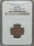Civil War Merchants, 1863 W.G. Brain, Druggist, Springfield, OH, AU55 NGC.Fuld-OH830A-9a....