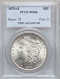 Morgan Dollars: , 1879-O $1 MS64 PCGS. PCGS Population (1942/306). NGC Census:(1326/154). Mintage: 2,887,000. Numismedia Wsl. Price for prob...