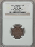 Civil War Merchants, 1863 D.W. Krebs & Co., Fremont, OH, MS62 Brown NGC.Fuld-OH330F-1a. Incorrectly attributed by NGC as Fuld-OH330F-2a....
