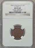 Civil War Merchants, 1863 D.B.S. Grocer, Cincinnati, OH., MS65 Brown NGC.Fuld-OH165FY-1a....