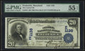 National Bank Notes:Maryland, Frederick, MD - $20 1902 Date Back Fr. 642 The Central NB Ch. #(E)1138. ...
