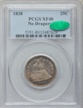 Seated Quarters: , 1838 25C No Drapery XF40 PCGS. CAC. PCGS Population (25/143). NGCCensus: (10/139). Mintage: 466,000. Numismedia Wsl. Price...