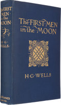 Books:Science Fiction & Fantasy, H. G. Wells. The First Men in the Moon. London: 1901. Firstedition, first issue binding. Superb copy....