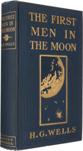 Books:Science Fiction & Fantasy, H. G. Wells. The First Men in the Moon. Indianapolis:[1901]. First American edition....