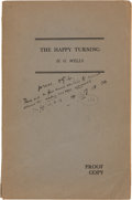 Books:World History, H. G. Wells. The Happy Turning. Heinemann, [1944]. Proof. Signed by Wells with hand-corrections....