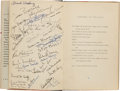 Books:Literature 1900-up, [Cast-Signed]. Robinson Jeffers. Medea. NY: [1946]. Firstedition. Inscribed by Jeffers and 1947-48 cast, crew, in...