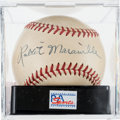 Autographs:Baseballs, Circa 1940 Rabbit Maranville Single Signed Baseball, PSA/DNA NM-MT+8.5....