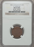 Civil War Merchants, 1863 W.W. Wert, Cincinnati, OH, MS62 Brown NGC. Fuld-OH165GJ-7a.Incorrectly attributed by NGC as Fuld-OH165-GJ-4a....