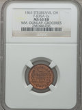 Civil War Merchants, 1863 Wm. Dunlap, Groceries, Steubenville, OH, MS63 Red and BrownNGC. Fuld-OH835A-2a....